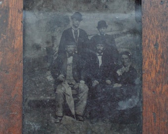 Victorian Family Tintype / Dated 1880 / Kahlenberg Vienna