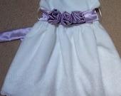 Custom Made White Eyelet  Flower Girl Dress