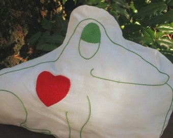 Luv Froggies, Frog shaped toss Pillow, unique and washable 22x14