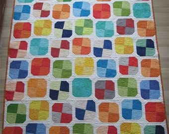 Modern Patchwork Quilt - quick and easy quilt pattern