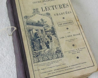 Antique French Textbook Published in Canada 1902    M223