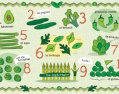Kids Spanish Vegetable Number and Food Placemat