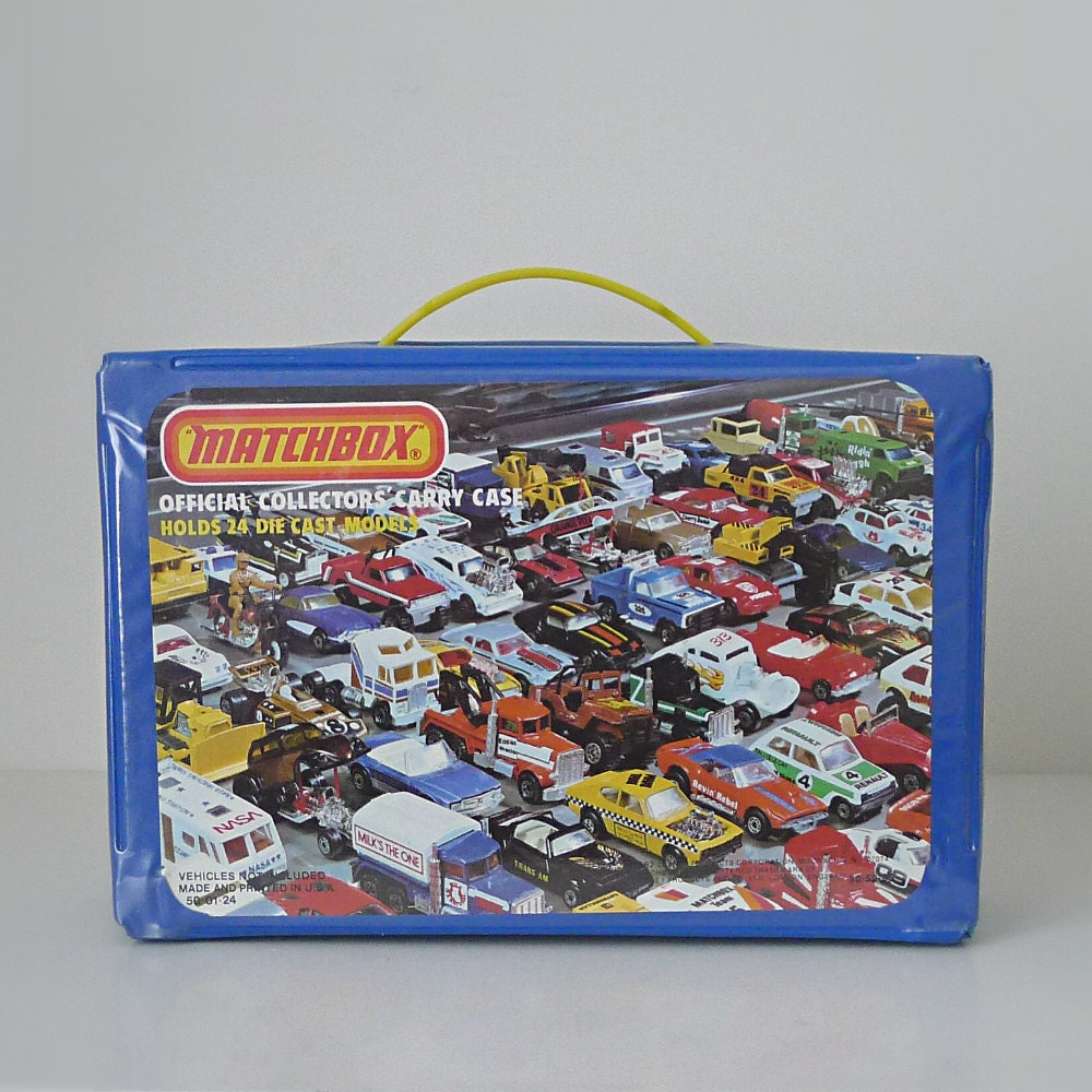Toy Car Case : Vintage matchbox plastic carrying case s toy car kids