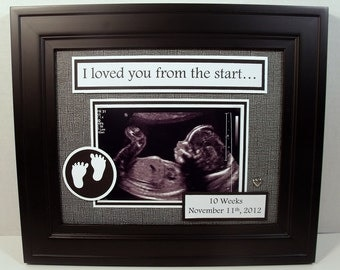 sonogram ultrasound baby photo keepsake i we loved you from the start 8x10 unframed photo mat