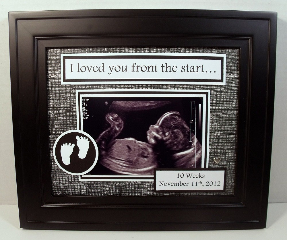 Baby ultrasound sonogram frame iwe loved you from the start baby ultrasound sonogram frame iwe loved you from the start personalized photo keepsake frame 8x10 frame included any message jeuxipadfo Image collections