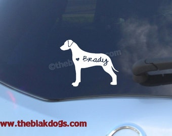 Rhodesian Ridgeback Silhouette Vinyl Sticker Car Decal Personalized