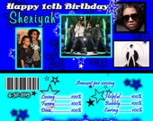Mindless Behavior Candy bar Wrappers