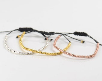 3 gold colors bracelets.Sterling silver