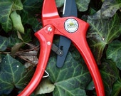 FlorianTools Ratchet Pruners Red   Garden Tool