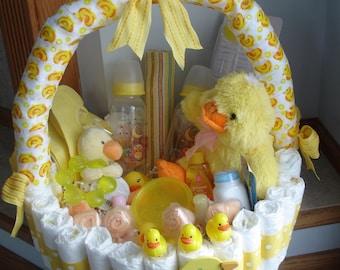 Duckie Diaper Basket Baby Shower Centerpiece