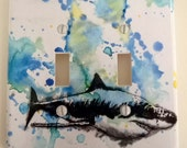 Great White Shark Double Decorative Light Switch Cover Great Zebra Kids Room Decor, Baby Nursery Decor, And of Course Everyone