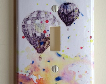 Hot Air Balloons Decorative Light Switch Cover Plate Great Baby Nursery, Children Kids Decor Art, And For Any Adventurer