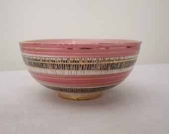 Vintage Small Pink & Gold Napco Bowl