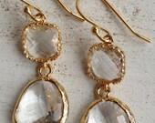 Perfectly Clear (handmade beaded earrings)