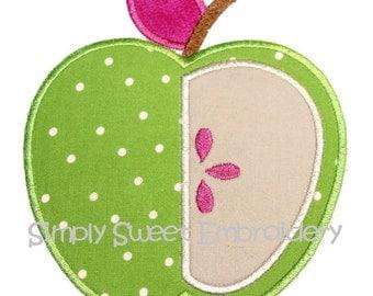 Apple 3 Machine Embroidery Applique Design