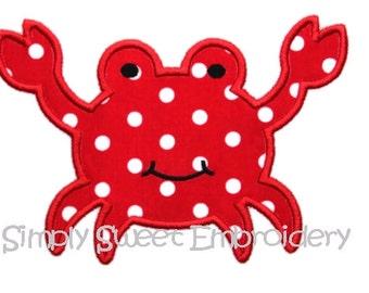 Cute Crab Machine Embroidery Applique Design