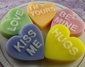 Soap - Conversation Hearts Made with Goats Milk -Glycerin Soap - Handmade Soap - Valentine's' Day - SoapGarden
