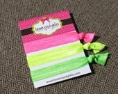 Elastic Hair Ties - Neon Highlighters