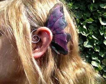 Purple And Black Ear Wings