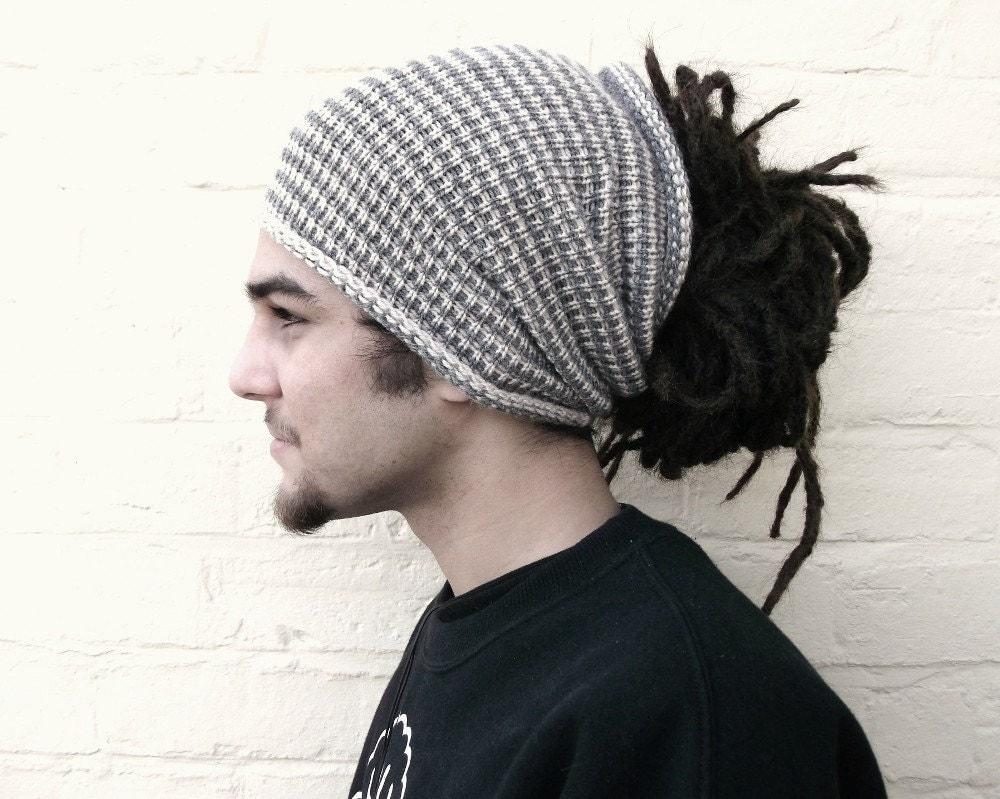 Striped dreadlock tube hat hair wrap dread band custom made Dreadlock Hats For Men