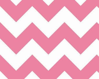 SALE - Riley Blake - Large Chevron in Hot Pink