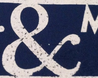 Mr. & Mrs. Rustic Wooden Sign - 5x15