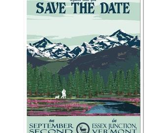 Vintage Alaska Save the Date - SAMPLE