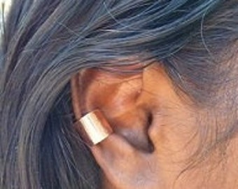 Pure Copper Plain Ear Cuff Smooth Shiny Style