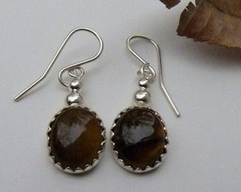 Sterling Silver Earrings Choose Your Stone Color
