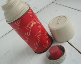 Vintage Thermos King Seeley Icy Hot Red