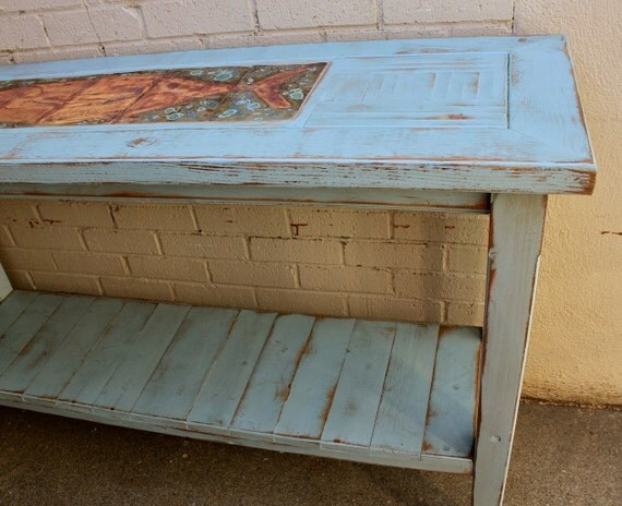 Handmade Wood Furniture Table Shabby Beach Cottage