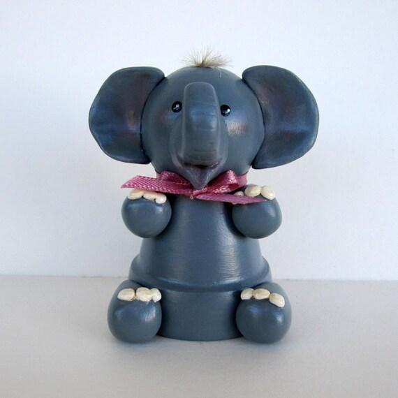Elephant Flowerpot Bell Ornament