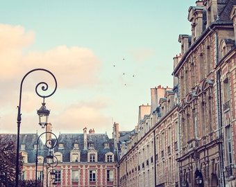 Paris Photography, Landscape Photography, Fine Art Paris Photo, Paris Decor, France, Pastel Colors - Place des Vosges