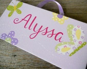 alyssa 6x12 hand painted door sign
