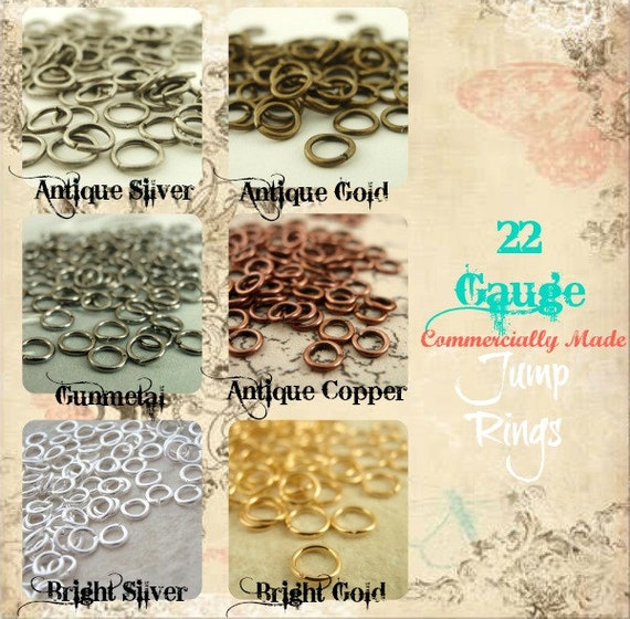 100 Plated Brass Jump Rings 22 gauge 4mm OD - YOU Pick Colors - Best Commercially Made