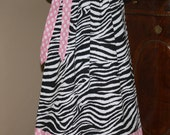 girls zebra SALE Pillowcase dress black white zebra PINK Polka Dot  3 6 9  12 18 24 mos, 2t, 3t, 4t, 5t
