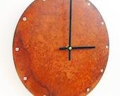 Circle, Medium Wall Clock, Rusted Wall Clock, rustic wall clock, unique wall clock, modern wall clock, steampunk wall clock