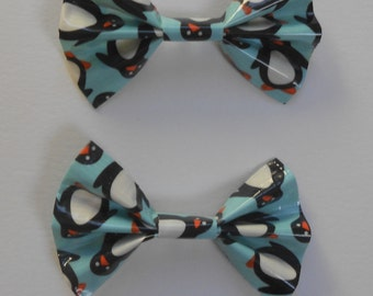 Duct Tape Hair Bows- Penguins