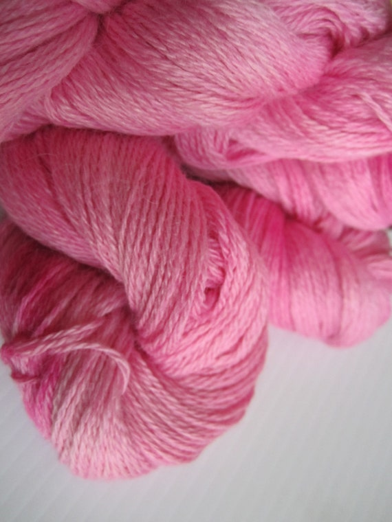 My Pedro - Pink Suri Alpaca Fingering Weight Yarn