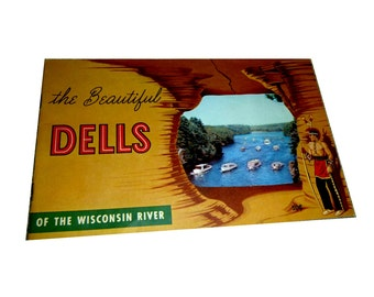Wisconsin Dells Brochure. 1954.  HH Bennett Studio. Witches Gulch.