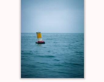 Minimalist Ocean Photograph, Beach Artwork, 8x10, Nautical Art, Sea Photo, Ocean Theme Home Decor
