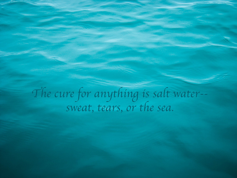 Salt Water Cure Art Quote Print 8x10 Beach House Decor