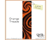 Loom Bracelet Pattern: Orange Treacle - INSTANT DOWNLOAD pdf -Discount codes are available - bl195