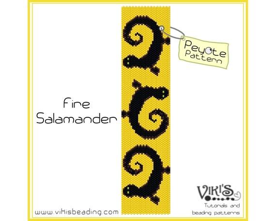Fire salamander peyote stitch bracelet pattern instant for Firebox promotional code