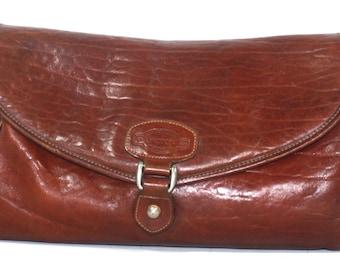 Vintage Purse Tote brown Oroton supple leather small medium australia