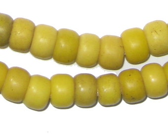 Ethiopia Yellow Padre Beads (PADR-RND-YLW-214)