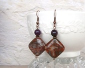 Purple Diamond Jasper Earrings