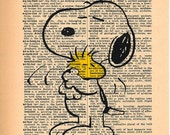 Snoopy Dictionary Art Print