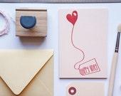 Valentine's Card, Valentine, Friend Valentine Card, VDay Card Blush Pink