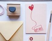 Valentine, ami Valentine carte Valentin, carte de VDay Blush rose